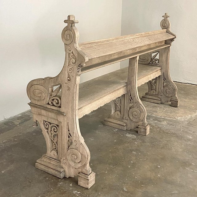 19th Century Gothic Revival Church Pew, Bench For Sale - Image 10 of 13