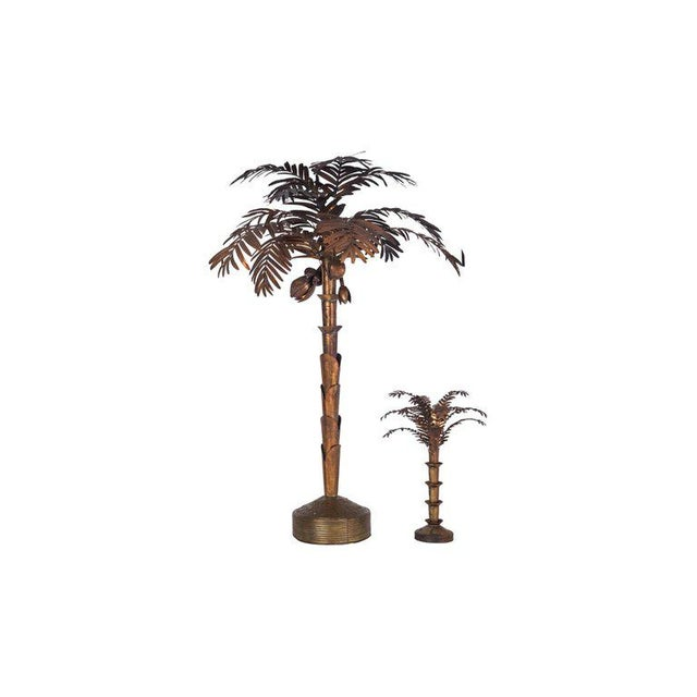 Maison Jansen Style Palmtree Table Lamp in Copper For Sale - Image 6 of 10