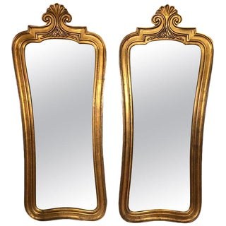 Hollywood Regency Gilt Mirrors - a Pair For Sale