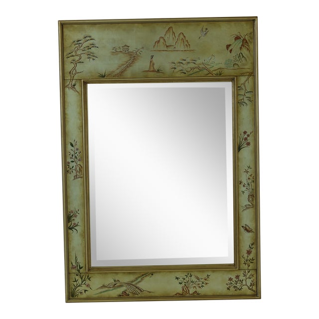 Labarge 8192-28 Eglomise Chinoiserie Mirror For Sale