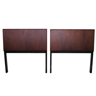 Vintage Danish Modern Teak Twin Headboards - A Pair For Sale