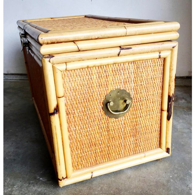 Vintage Bamboo Trunk Blanket/Toy Chest - Image 4 of 8
