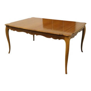 20th Century French Provincial Solid Cherry Dining Table For Sale