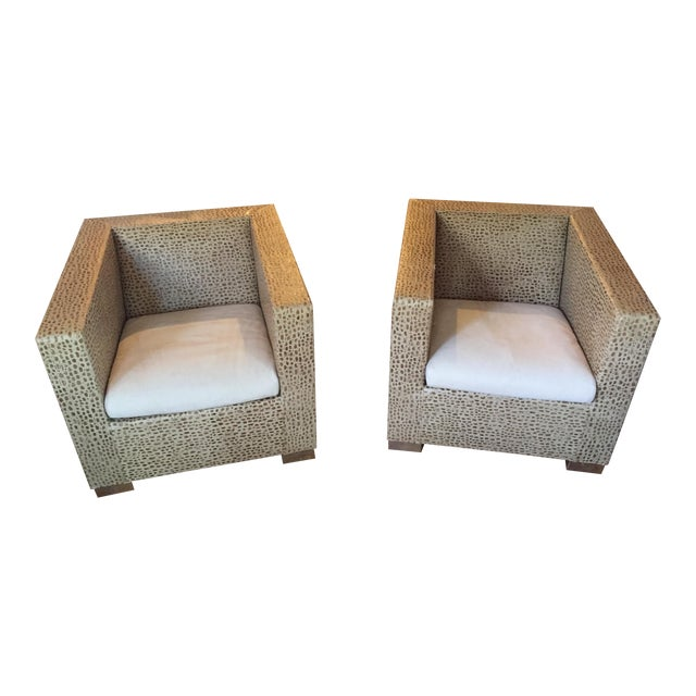 Minotti Suitcase Chairs - Pair - Image 1 of 7