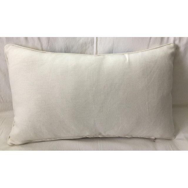 Vintage Schumacher Linen Lumbar Pillow - Image 2 of 2