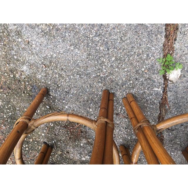 Heywood Wakefield Bamboo Barstools - Set of 4 - Image 4 of 6