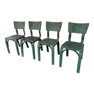 Vintage Mid-Century Thonet Bentwood Dining Chairs - Set of 4 For Sale