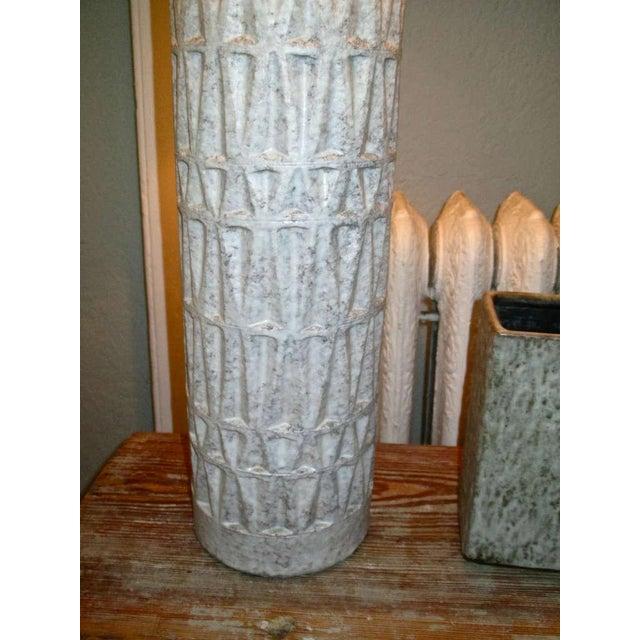 Mid Century Ceramic Textured Lamp - Image 3 of 3