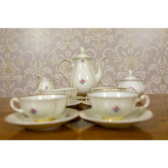 1918-1948 Karlskrona Porcelain Coffee Service for 6 - Set of 15 For Sale - Image 6 of 13
