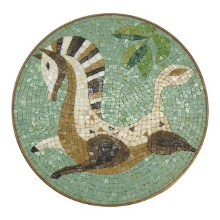 Evelyn Ackerman Era Mosaic Tile, Round Wall Hanging For Sale