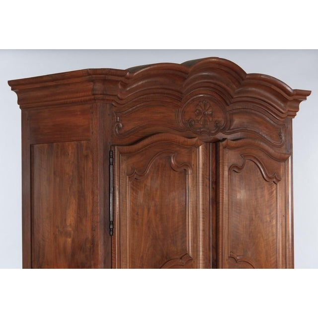 French Louis XV Walnut Armoire, Circa 1800s - Image 3 of 11