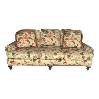 Sherrill Furniture Floral Settee For Sale