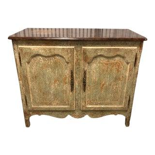 Vintage Minton Spidell Sage Green Wood Short Cabinet For Sale