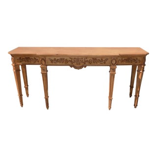 French Louis XVI Drexel Heritage Sofa Table For Sale