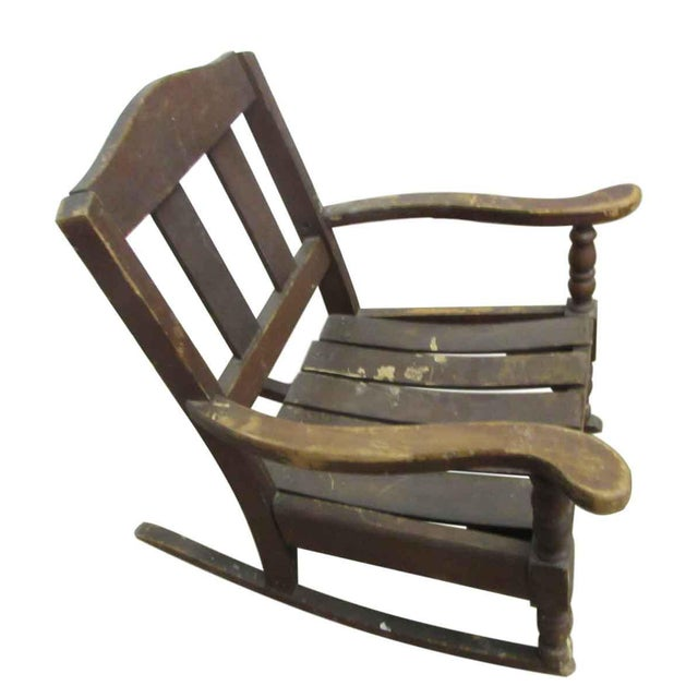 Country Miniature Wooden Rocking Chair For Sale - Image 3 of 8