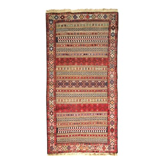 Vintage Kurdish Kilim Rug - 3′3″ × 6′9″