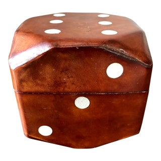Vintage Italian Leather Die Card Holder For Sale