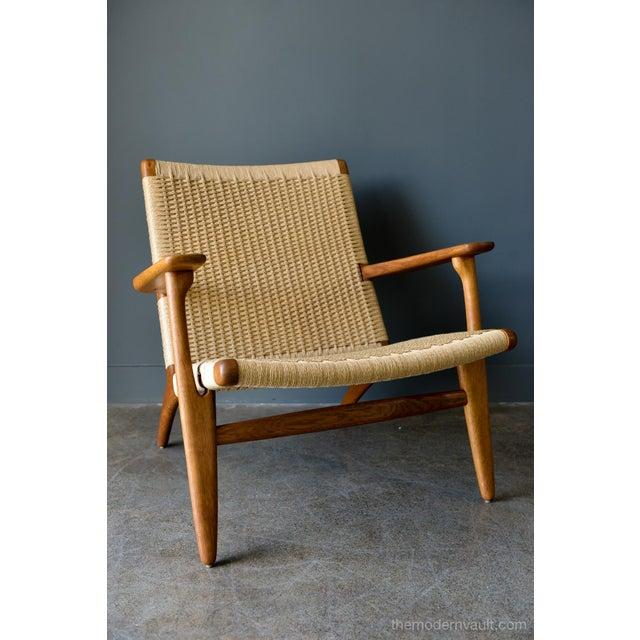 Carl Hansen & Søn 1950s Vintage Hans Wegner for Carl Hansen & Son Ch 25 Lounge Chair For Sale - Image 4 of 12