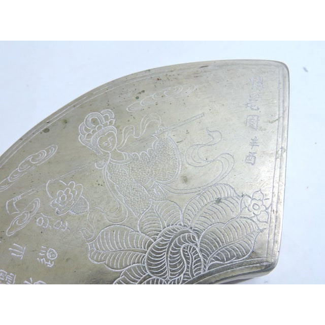 Asian Vintage Chinese Silver Lidded Box/Catchall For Sale - Image 3 of 6