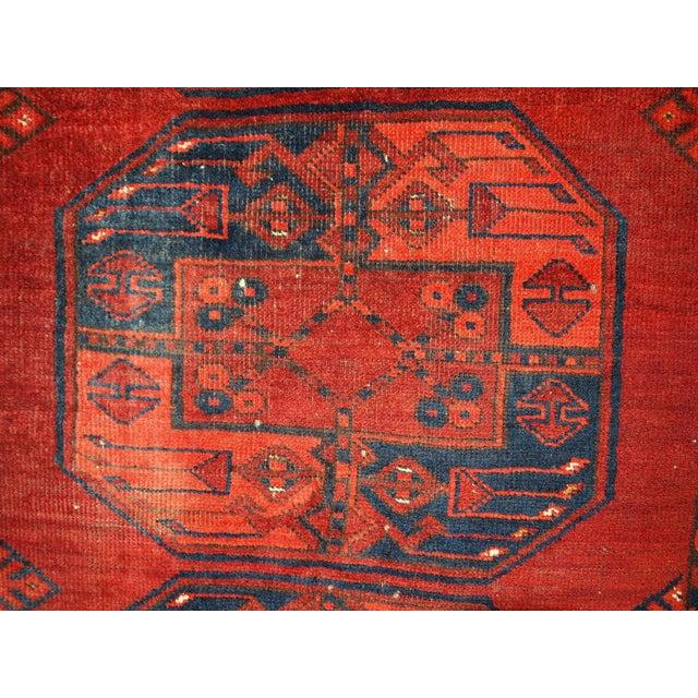 Vintage Rug Seattle: 1950s Vintage Afghan Ersari Rug- 3′8″ × 7′6″