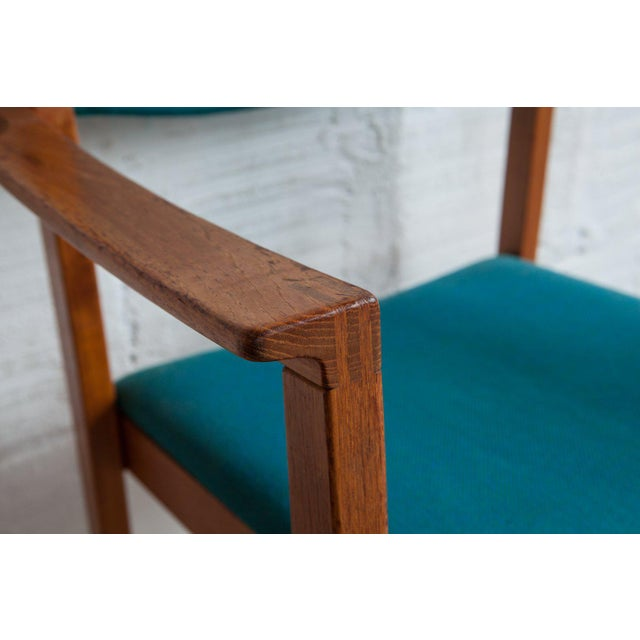 1960s Mid-Century Modern Teal Armchairs - Set of 6 For Sale In Portland, OR - Image 6 of 8