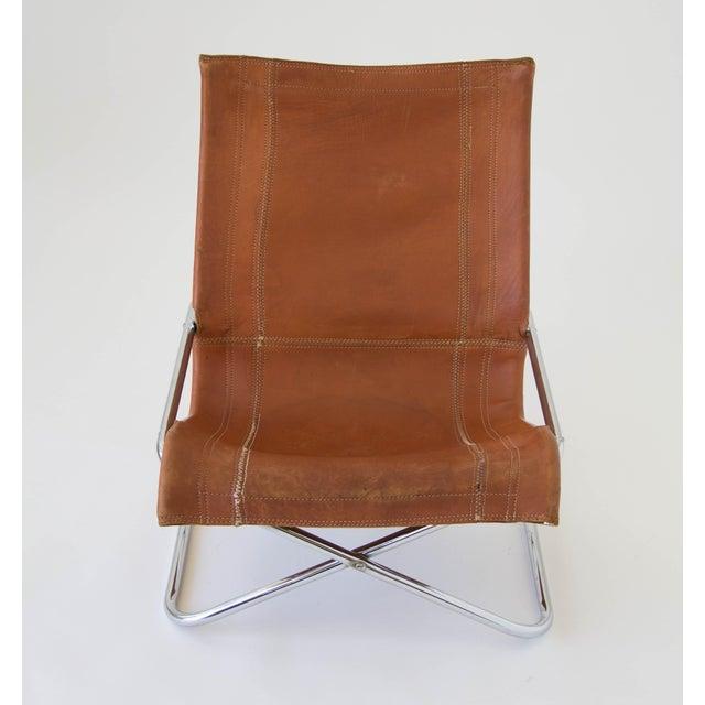 Sueki Uchida Leather Sling Chair For Sale In Los Angeles - Image 6 of 9