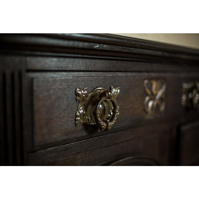 1910 Art Nouveau Oak Commode or Sideboard For Sale - Image 4 of 13