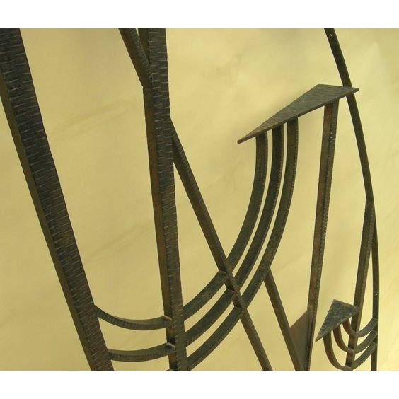 Art Deco Hammered Iron Screen - Image 5 of 7