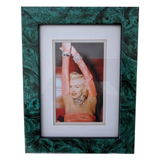 Faux Malachite Framed Marilyn Monroe Photo Print For Sale