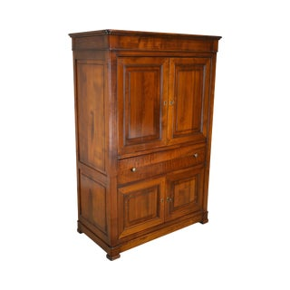 Grande Arredo Louis Philippe Style French Cherry Tv Armoire Cabinet For Sale