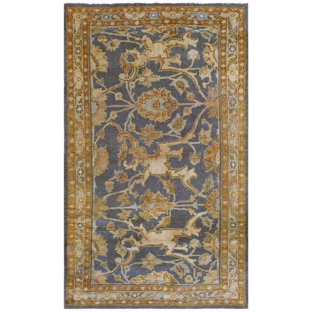 Blue Antique Persian Tabriz Rug - 4′2″ × 6′4″ For Sale - Image 8 of 8