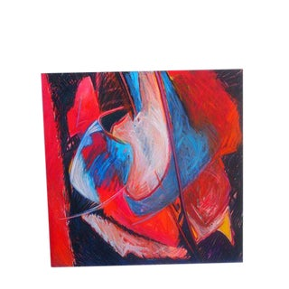 Large Abstract Oil On Canvas
