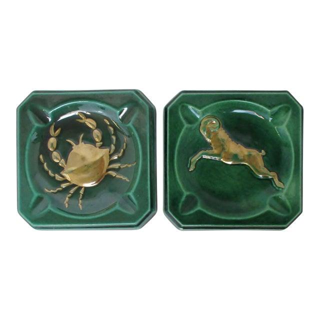 Vintage Ceramic Ashtrays, Set of 2 For Sale