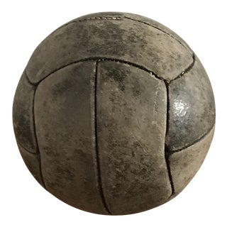 Late 19th Century Antique Leather Medicine Ball For Sale