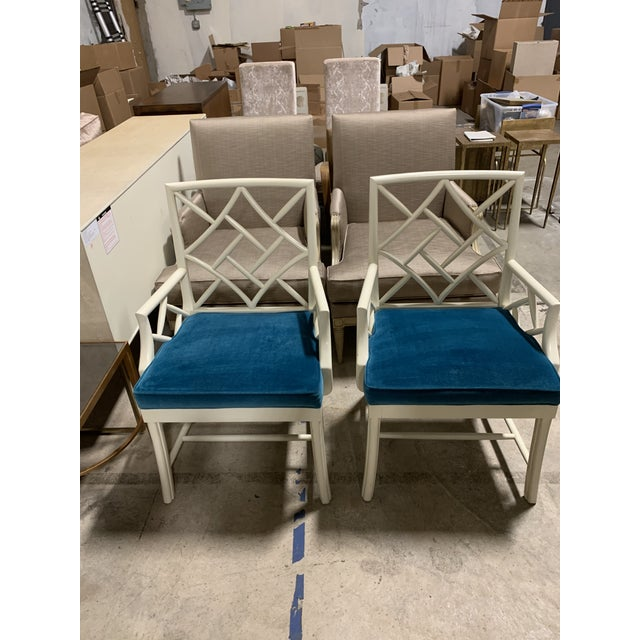 2010s Hickory Chair Fretwork Chippendale Arm Chairs-A Pair For Sale - Image 5 of 5