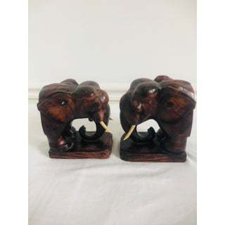 20th Century Figurative Elephant Head Bookends - a Pair Preview