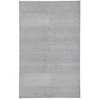 Jaipur Living Glace Handmade Geometric Dark Blue & Ivory Area Rug - 8′ × 10′ For Sale