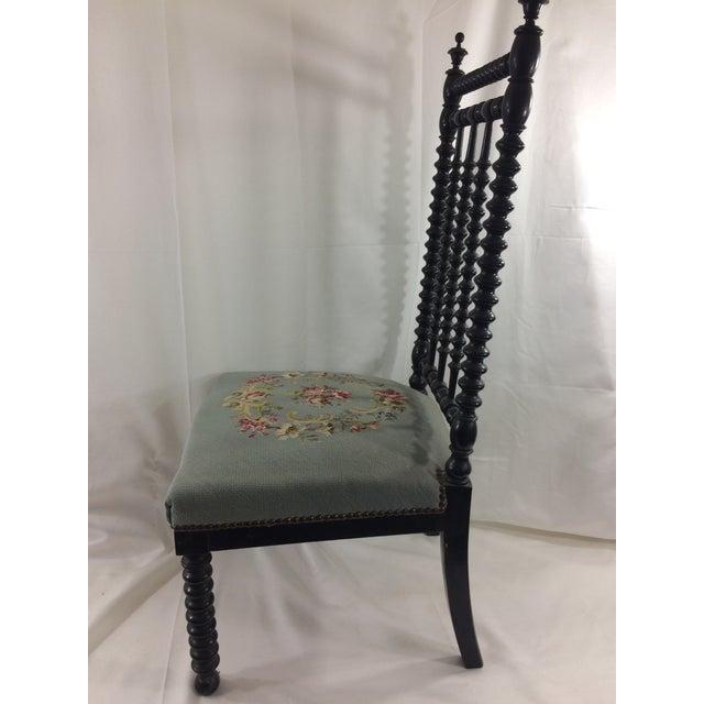 Napoleon III Napoleon Ebonized Spindle Chair For Sale - Image 3 of 9