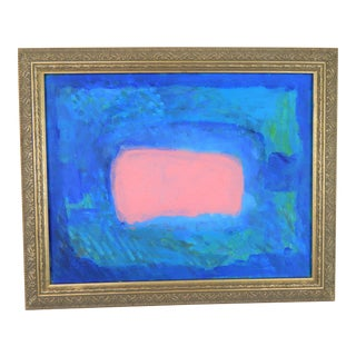 Abstract Modern Pink Oil Painting For Sale