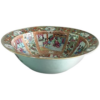 Chinese Export Qing Dynasty Famille Rose Mandarin Bowl For Sale