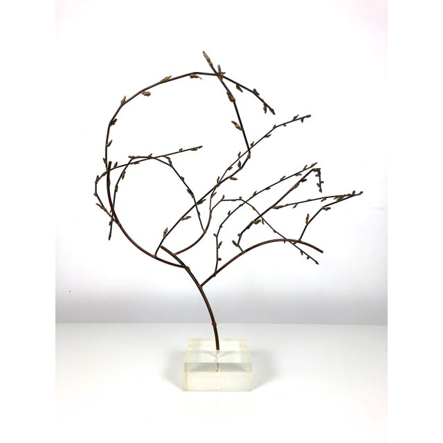 1970s 1970s Brutalist Brass Willow Tree Sculpture For Sale - Image 5 of 11