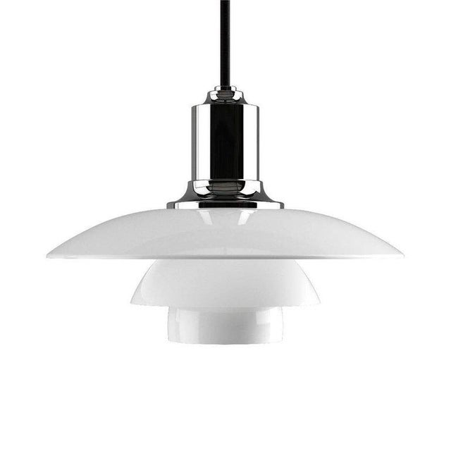 Poul Henningsen Ph 2/1 Brass & Glass Pendant for Louis Poulsen For Sale In Los Angeles - Image 6 of 8