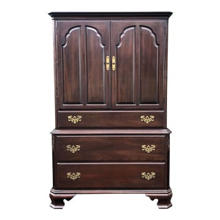 Ethan Allen Georgian Court Cherry Armoire Dresser For Sale