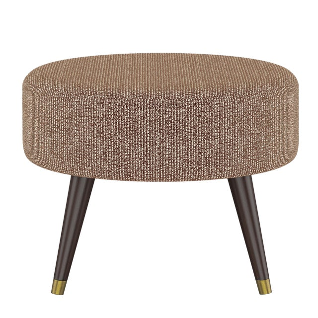 Oval Ottoman in Solitude Spice For Sale