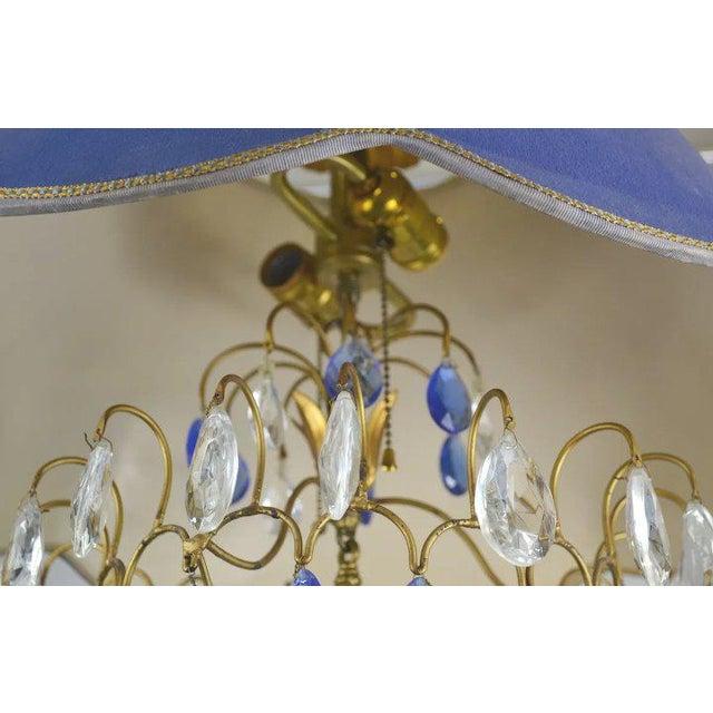 Blue Shade Crystal Pendant For Sale In Denver - Image 6 of 9