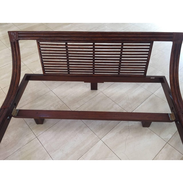 Asian Mid Century Wicker Low Platform Bed by Maugrion Made in France for Roche Bobois For Sale - Image 3 of 10