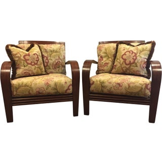 Ethan Allen Jamaica Arm Chairs - a Pair Preview
