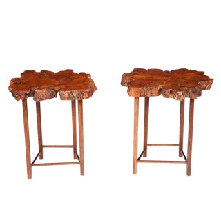Burl Cherrybomb Tables by Don Howell, circa 2010 For Sale