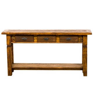 Rustic & Country Console Table - Reclaimed Peroba Rosa Wood