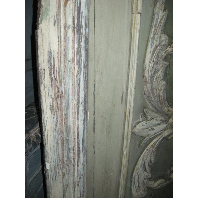 Cream 18th Century Louis XVI Painted Panel Door For Sale - Image 8 of 12